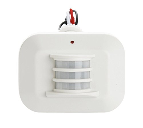 Designers Edge L6020WH 180-Degree Replacement Motion Sensor with Adaptor, White, 500-watt