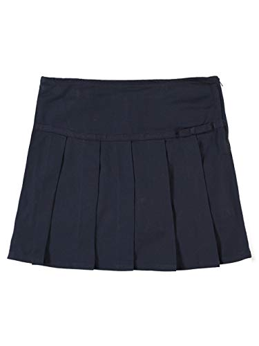 (French Toast School Uniform Girls Pleated Scooter with Grosgrain Ribbon, Navy, 8)