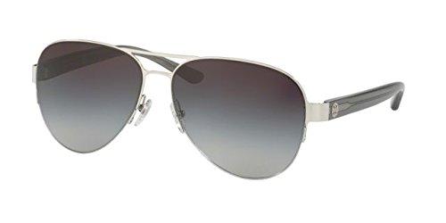 Tory Burch Women's 0TY6048 59mm Silver/Grey Gradient - Sunglasses Burch Tory Plastic Aviator