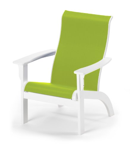 - Telescope Casual 9A7638D01 Adirondack MGP Sling Chair, Textured Snow Finish with Lime Sling Fabric