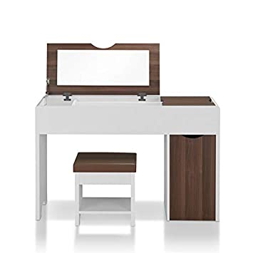 the latest 6c95d 3b54c Amazon.com: Furniture of America Caron Vanity Table Set in ...