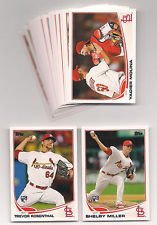 2013 Topps Baseball St. Louis Cardinals Complete Team Set (23 cards) - Shelby Miller Rookie, Trevor Resenthal, 2 Matt Holliday, Adam Wainwright, Yadier Molina, Edward Mujica, 2013 NLDS Game 5, Jamie Garcia, Matt Carpenter, Daniel Desgalso, Jon Jay, Jason Motte, Kyle McClellan, Brian Fuentes, Jake Westbrook, Rafael Furcal, Allen Craig, Joe Kelly, Lance Lynn, Carlos Beltran, Chris Carpenter, and David Freese shipped in an acrylic case