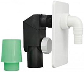 Kit de desagüe de tubería para lavadora, color blanco