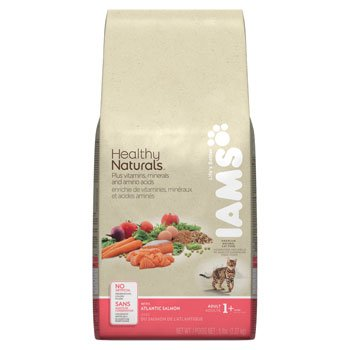 Iams Healthy Naturals Adult with Atlantic Salmon Premium Cat Food, 5-Pound, My Pet Supplies