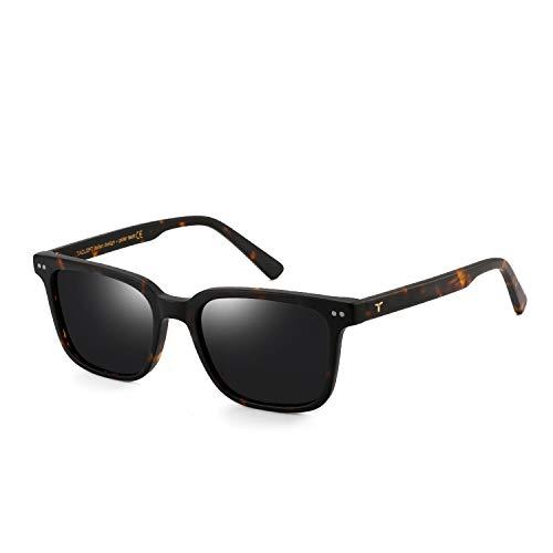 Tacloft rectangular Polarized Sunglasses Unisex Memory-Acetate Frame Luxury Sun Glasses For Men/Women tl3009