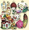Old World Christmas 12 Piece Bride's Tree Ornament Collection