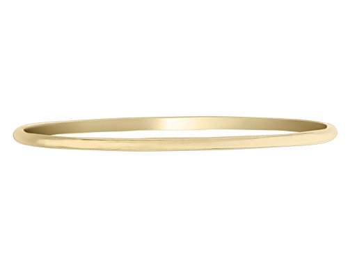 Polished Slip On Bangle in 14K Yellow Gold (3.00 mm) 14k Yellow Gold Slip