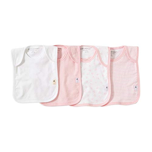 Price comparison product image Burt's Bees Baby - Set of 4 Bee Essentials Lap Shoulder Bibs,  100% Organic Cotton,  Blossom Variety