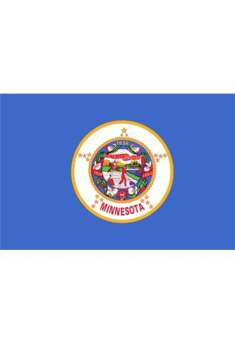Flag of Minnesota: Journal; 160 Lined / ruled pages, 6x9 inch (15.24 x 22.86 cm) Laminated.