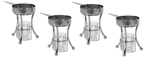 (Set of 4) Stainless Steel Tabletop Butter Warmers