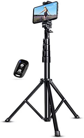 """UBeesize Selfie Stick Tripod, 51"""" Extendable Tripod Stand with Bluetooth Remote for Cell Phones, Heavy Duty Aluminum, Lightweight"""