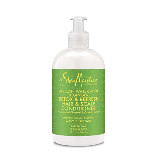 Shea Moisture African Water Mint & Ginger Detox & Refresh Hair & Scalp Conditioner for Unisex, 13 - Hair Ginger Conditioner