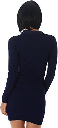 Enzoria - Vestido - Básico - para mujer azul marino