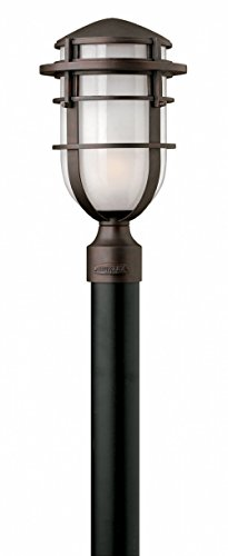 Hinkley 1951VZ Transitional One Light Post Top/ Pier Mount from Reef collection in Bronze/Darkfinish,