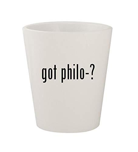 Byblos Glasses - got philo-? - Ceramic White 1.5oz Shot Glass
