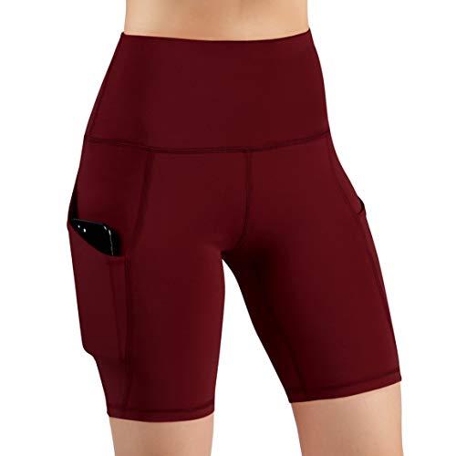 ODODOS High Waist Out Pocket Yoga Short Tummy...