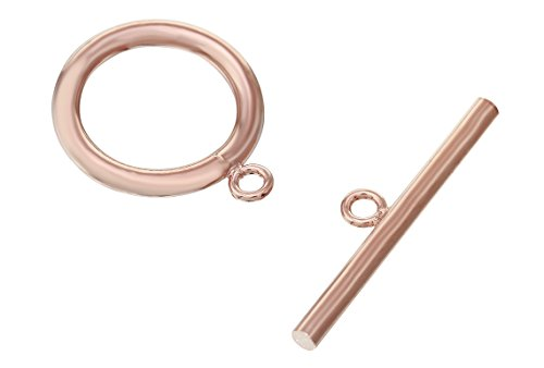 1 Set 15 mm Rose Gold Filled Toggle Clasp