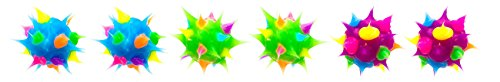 Spikeez Trio Spiky Silicone Studs 8mm (Turquoise/Green/Purple)