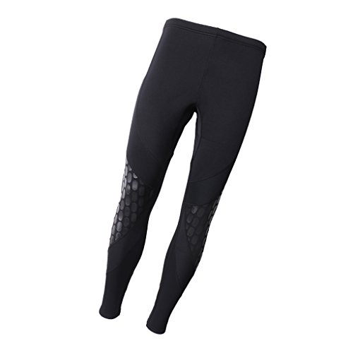 MagiDeal Mens Wetsuit Pants 1.5mm Neoprene Warm Super Stretch Trousers for Water Sport Snorkeling Fishing Diving Surfing…