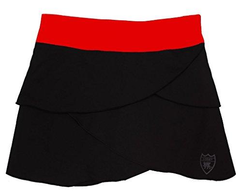 - Loriet Girls Monaco Performance Skorts Black/Red Medium
