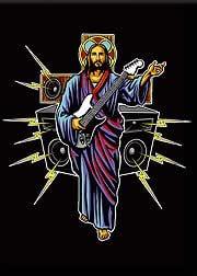 Artista Marco Almera Crucifijo imán para nevera Guitar Hero ...