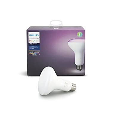 Philips Hue White and Color Ambiance 3rd Generation BR30 60W Equivalent Dimmable LED Smart Flood Light (Newest Model, Compatible with Amazon Alexa, Apple HomeKit, and Google Assistant)