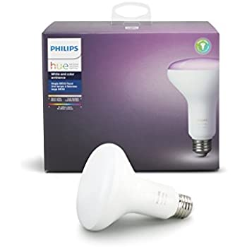philips hue 2 pack white ambiance br30 60w equivalent dimmable led smart flood lights. Black Bedroom Furniture Sets. Home Design Ideas