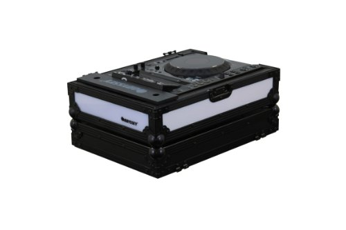 Controller Tabletop Music Digital (Odyssey FFX2LCDJBL Flight Fx2 Series Large format Tabletop CD/Digital Media Player Case with Front and Left Side LED Panel)