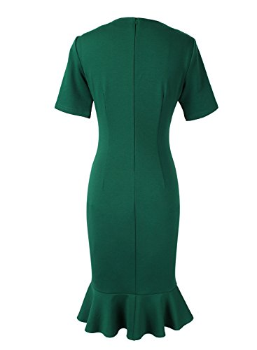 VfEmage Womens Elegant Vintage Cocktail Party Mermaid Midi Mid-Calf Dress 8923 GRN 16 by VfEmage (Image #2)