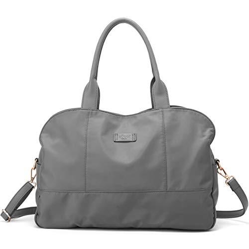- ZOCAI Handbag for Women Tote Bag Casual Weekender Bag Overnight Carry On Shoulder Bag for Travel Work Gym (Grey)