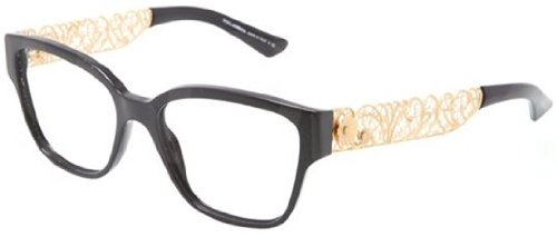 Dolce & Gabbana DG3186 Eyeglasses-501 Black-53mm