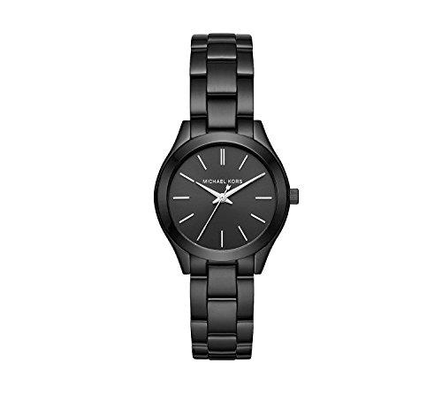 (Michael Kors Mini Slim Runway IP Three-Hand Watch)