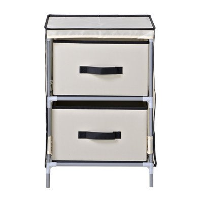 Homestar ZH151950BE 2-Drawer Fabric Dresser by Home Star