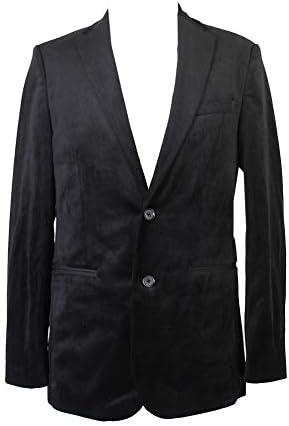 Calvin Klein Men`s Two Button Printed Velvet Plaid Sportcoat / Calvin Klein Men`s Two Button Printed Velvet Plaid Sportcoat