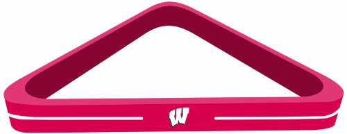 - Imperial Officially Licensed NCAA Merchandise: Wood Triangle Billiard/Pool Ball Rack, Wisconsin Badgers