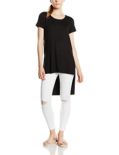 Only Onlmoster High Low S/S Top Jrs, Camiseta para Mujer negro
