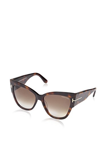 Tom Ford Anoushka FT0371-53FSunglasses, Blonde Havana Frame/Gradient Brown Lens, - Ford Lenses Tom