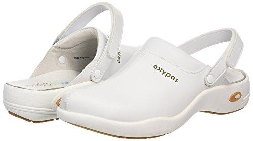 Oxypas Unisex-Adult Ultralight 'Heidi' Comfortable and Practical Nursing Clogs, White (002 White), 8 UK (42 EU) blanco - 002