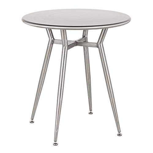 LumiSource Round Dinette Table in Silver