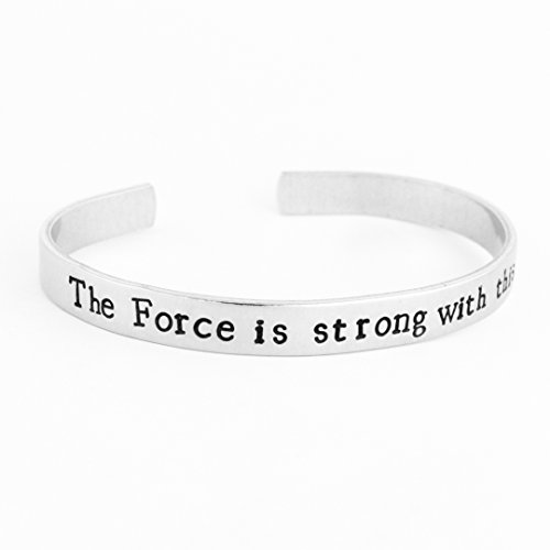 (The Force is Strong With This One - Star Wars - Movie Quotes - Aluminum Bracelet)