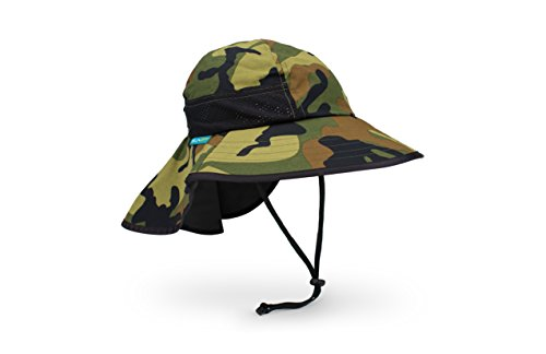 Camouflage Hat Cap (Sunday Afternoons Play Hat, Youth, Green Camo)