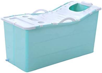 大人のためのバスタブを折りたたみ、ポータブル子供の折りたたみプール、スパ健康マッサージポータブルバスタブ (Color : Blue)