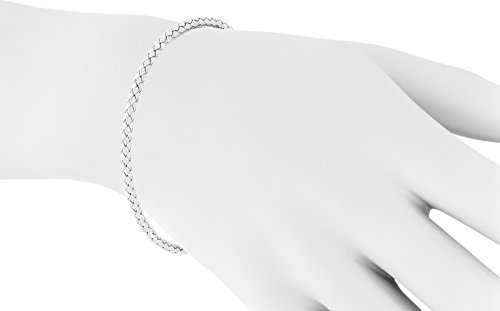 "14K White Gold 3mm Bracelet in Braided Wheat Chain Design | Luxurious Weave Rope Chain Style| 7"" Length by Trusted Jewelers (Image #1)"