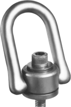5-19//64 Height Alloy Steel w// Black Oxide finish 1-1//2 Thread Length 5000 lbs Working Load Limit G Thread Size 3//4-10 American Drill Bushing 33716 Heavy Duty Swivel Hoist Ring