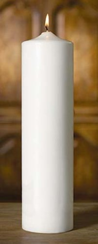 12'' x 3'' White Pillar Candle