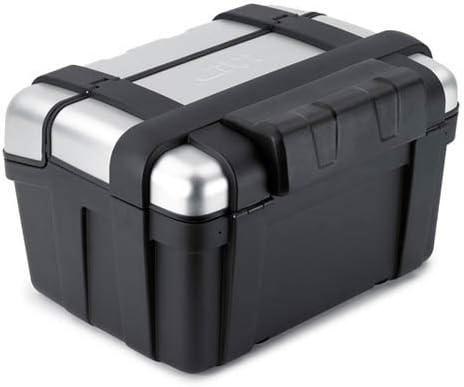 Givi E118 - Respaldo de Poliuretano Negro para baúl, Maleta TRK46 Trekker de Aluminio Barnizado Negro