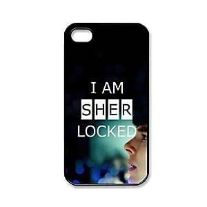 HP- Patrón Custombox Sherlock cubierta de plástico duro caso para iPhone 4/4S