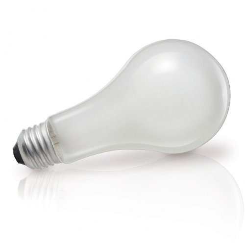 Philips 149716 100-watt A19 Silicone Coated Rough Service Light Bulb ()