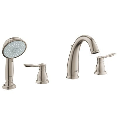 Parkfield Double Handle Widespread Roman Tub Faucet with Handshower Finish: Brushed Nickel