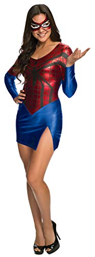 Secret Wishes Women's Marvel Universe Spider-Girl Costume Dress and Mask, Multicolor, Medium